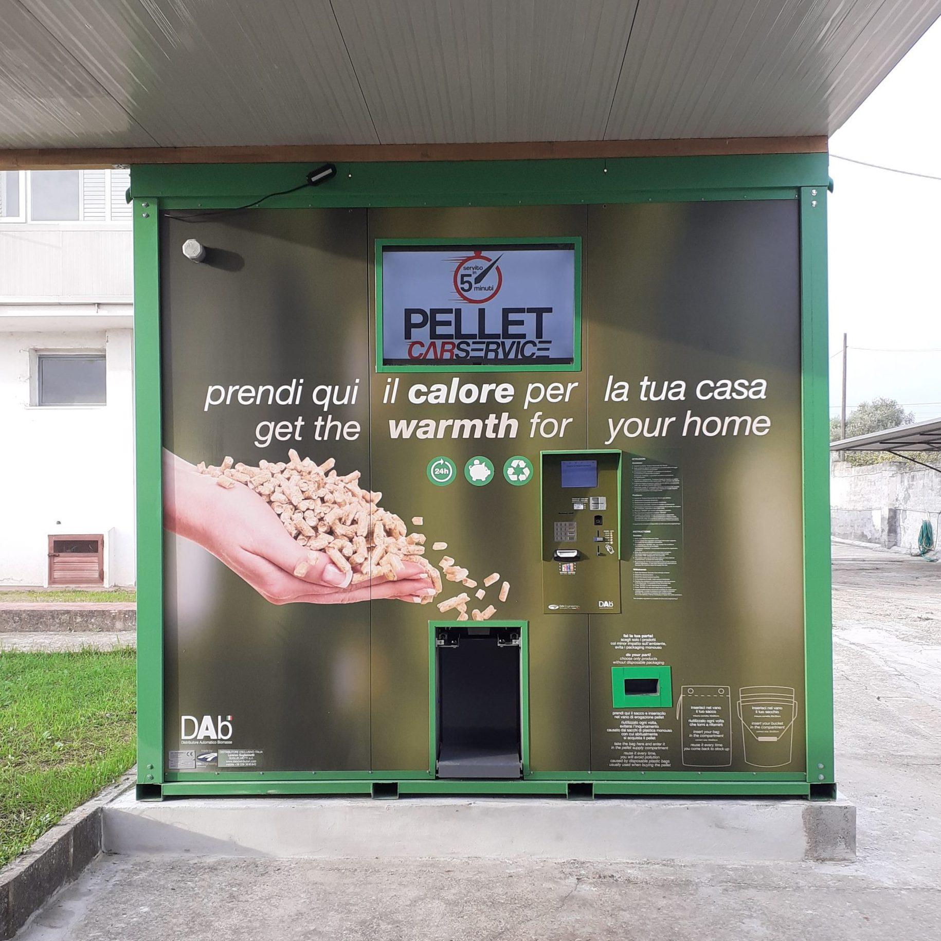 Distributore automatico di pellet sfuso
